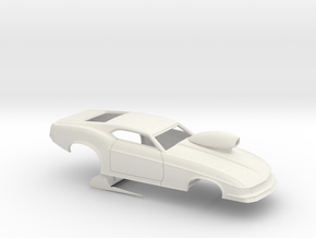 1/18 1970 Pro Mod Mustang With Scoop in White Natural Versatile Plastic