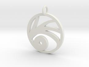 A series of unfortunate events VFD pendant in White Natural Versatile Plastic
