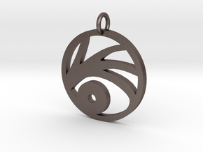 A series of unfortunate events VFD pendant in Polished Bronzed Silver Steel