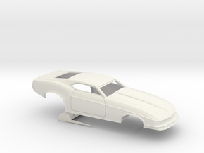 1/16 1970 Pro Mod Mustang No Scoop in White Natural Versatile Plastic