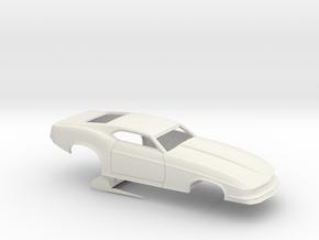1/18 1970 Pro Mod Mustang No Scoop in White Natural Versatile Plastic