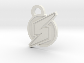 Screw Attack Pendant in White Natural Versatile Plastic