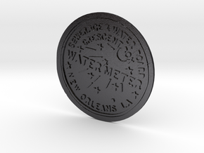 New Orleans Water Meter Cover in Polished and Bronzed Black Steel