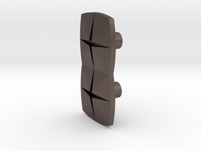 Tile2 (Handle/Pull) in Polished Bronzed Silver Steel