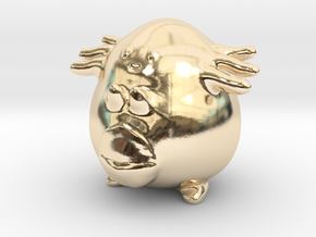 Chansey in 14k Gold Plated Brass