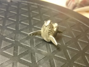 Sharpedo Key Charm in Polished Bronzed Silver Steel