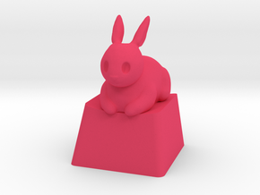 Bunny Loaf in Pink Processed Versatile Plastic