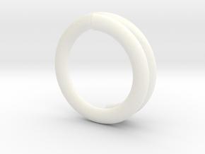 Clip in White Processed Versatile Plastic