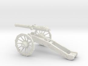 AF French gun 12 Pounder 7 Years War 28mm in White Natural Versatile Plastic