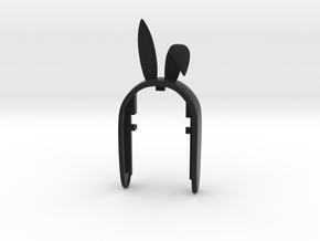 KEYFOB Bunny in Black Natural Versatile Plastic