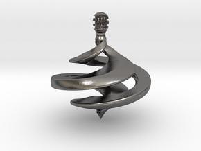 Ribbon Spinning Top in Polished Nickel Steel