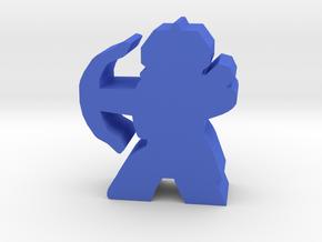 Game Piece, Dwarven Archer in Blue Processed Versatile Plastic