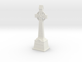 Gravestone miniatur celticcross7 in White Natural Versatile Plastic