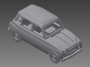 Renault 4 Hatchback 1. gen. 1:160 scale (1 car) in Smooth Fine Detail Plastic