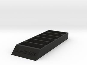 Ar-15 Mag Stand in Black Natural Versatile Plastic