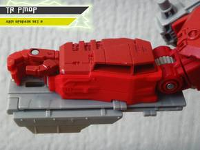 TR PMOP Arm Upgrade Set B in Red Processed Versatile Plastic