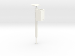 Fernsprechkasten am  Betonpfahl in White Strong & Flexible Polished