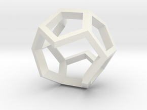 Dodecahedron Sculpture Ring B Gmtrx  in White Natural Versatile Plastic