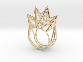 Rhombus Ring (Medium) in 14K Yellow Gold: 11 / 64