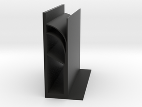 Flying Buttress bookends in Black Natural Versatile Plastic