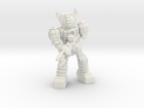 Waruder, Kuwagatrer Trooper, Patrolling 35mm Mini in White Natural Versatile Plastic