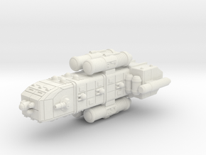 Colonial Light Cruiser in White Natural Versatile Plastic