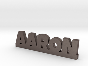 AARON Lucky in Polished Bronzed Silver Steel