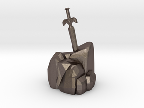 Sword In The Stone in Polished Bronzed Silver Steel