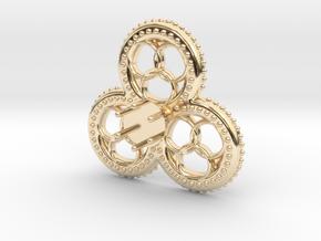 Trefoil Jewel 'Gelre' in 14k Gold Plated Brass