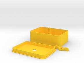 Delux Tobacco Tin in Yellow Processed Versatile Plastic