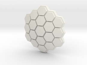 Hexagonal Energy Shield, 5mm grip in White Natural Versatile Plastic