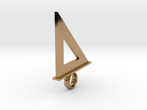 Speedsquare Keychain or Pendant in Polished Brass: 1:4800