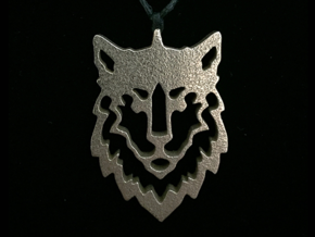 Wolf Pendant in Stainless Steel