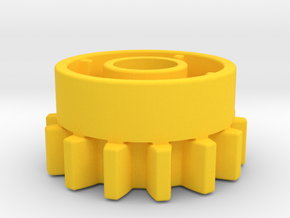 14 teeth clutch for Technic in Yellow Processed Versatile Plastic