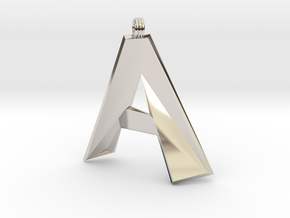 Distorted Letter A in Platinum
