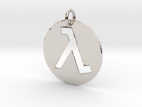 Half Life Pendant/Keychain in Platinum