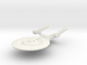 BattleNash Class  BattleCruiser in White Natural Versatile Plastic