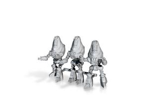 Protectron Patrol - 3 35mm Minis in Metallic Plastic