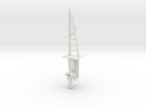 Signal 23 Ft Post 2 Arms HO NSWGR LQ in White Natural Versatile Plastic