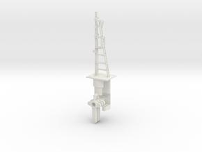 Signal 23 Ft Post 3 Arms HO NSWGR LQ in White Natural Versatile Plastic