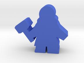 Game Piece, Dwarven Smith in Blue Processed Versatile Plastic