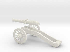 French cannon 24 Pounder 7 Years War 28mm in White Strong & Flexible