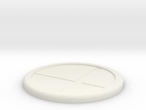 sbm coaster M in White Natural Versatile Plastic