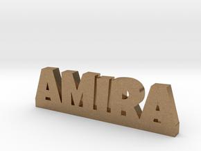 AMIRA Lucky in Natural Brass