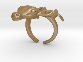 Ring+Deer+Size+7+US in Matte Gold Steel