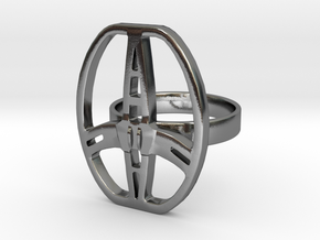 Garrett metal detector coil ring 20mm Diameter in Polished Silver