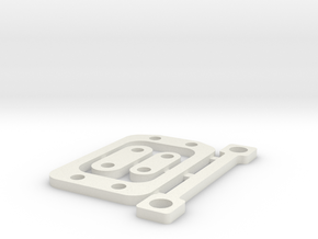 RC10B6 2mm Gear Box Spacer Set in White Natural Versatile Plastic