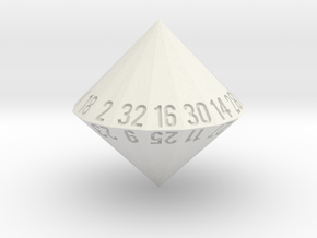 d32 (32-sided die) in White Strong & Flexible: Medium