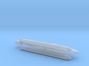 "German Midget Submarine ""Biber"" 1/144 in Smooth Fine Detail Plastic"