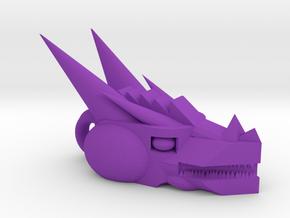 Mech Dragon head charm in Purple Processed Versatile Plastic